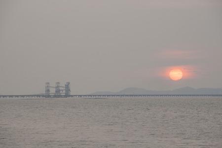 seaview: Sunset seaview of Chon Buri province, Thailand