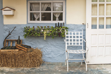 front house: Front porch of a house