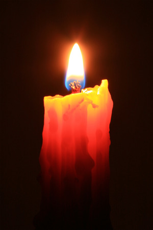 candle flame: A candle flame is formed because wax vaporizes on burning