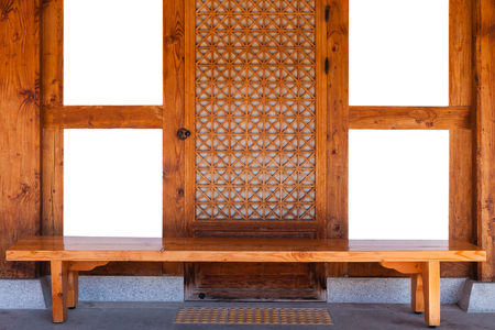 windows frame: Traditional korea wooden windows frame with empty space