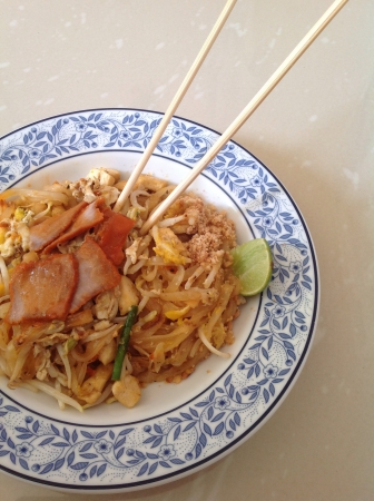 tradional: Patthai, thai noodle. The famous tradional food in Thailand.