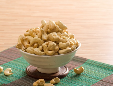 Bowl of cashew nuts