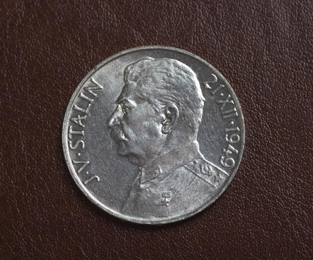 koruna: Old czech silver koruna coin