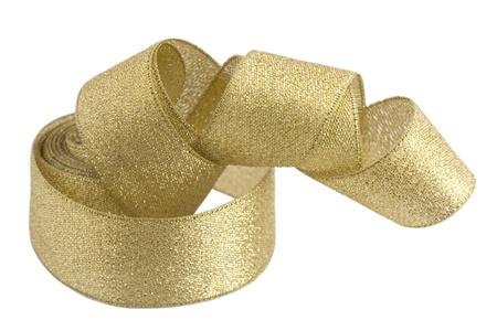 Twisted ribbon isolated on white background