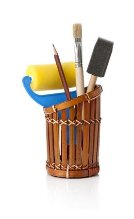Sponge brushes, foam brush and roller art set Stock Photo - 13856487
