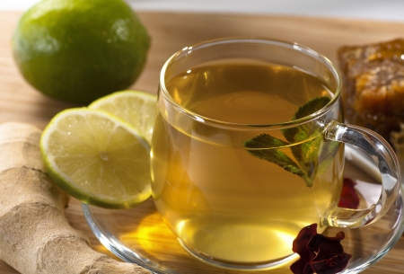 Ginger tea and its components Stock Photo - 13856491