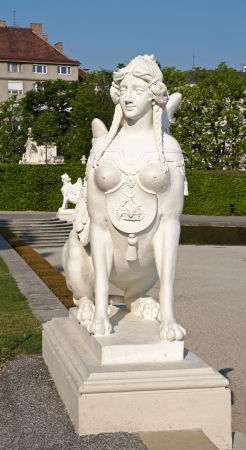 Sphinx monument in the Belvedere. Vienna. Austria photo