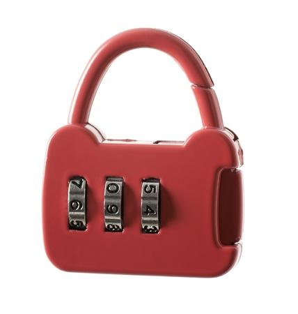 Combination lock isolated on white background Stock Photo - 15880312