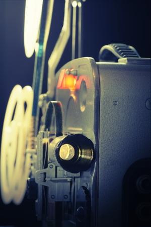 Old amateur super-8 film  movie projector