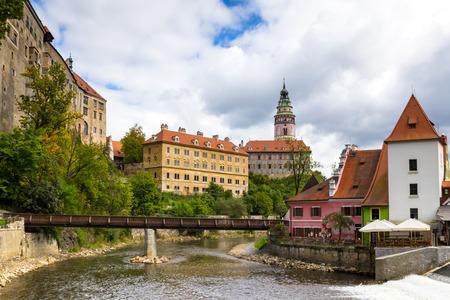 체스키 크룸 로프 체코의 중세 성 스톡 콘텐츠