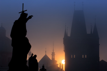 Silhouette sculpture Prague photo
