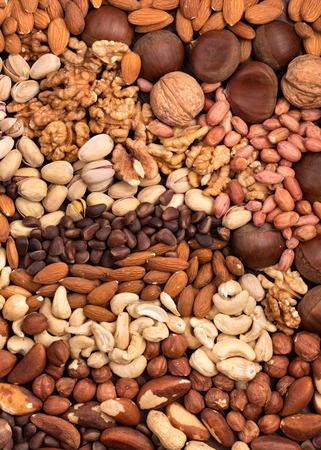 Variety edible nuts background 版權商用圖片 - 37458375