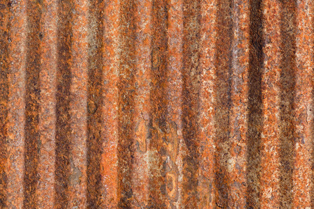 ribbed: Ribbed rusty metal surface background Stock Photo