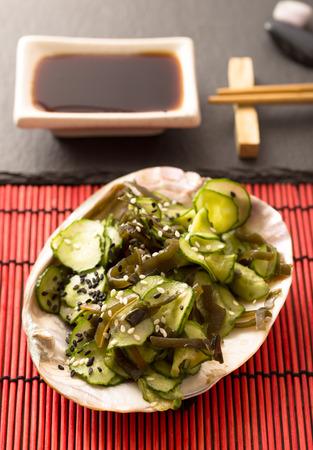 Sunomono. Japanese cucumber salad.