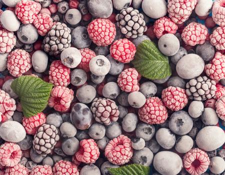 各種冷凍果実背景