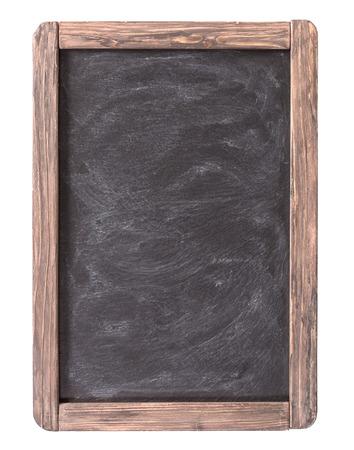 Rustic slate menu blackboard isolated on white