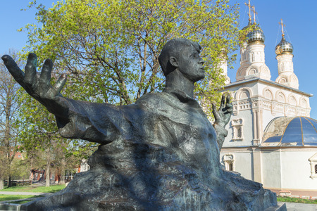 esenin: RYAZAN, RUSSIA - May 07.2013: Monument to Sergei Yesenin, a great Russian poet, is opened in Ryazan on October 2, 1975. Author of a monument is Kibalnikov, architect - Begunts. Stock Photo