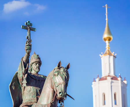 iv: ORYOL, RUSSIA - OCTOBER 13, 2016: A monument to Ivan the Terrible, czar of all Russia, has opened in  Oryol October 14, 2016. Tsar Ivan IV founded the Oryol in 1566. Author of monument Oleg Malchanov Editorial