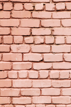 weathered: Old pink grey brick wall Stock Photo