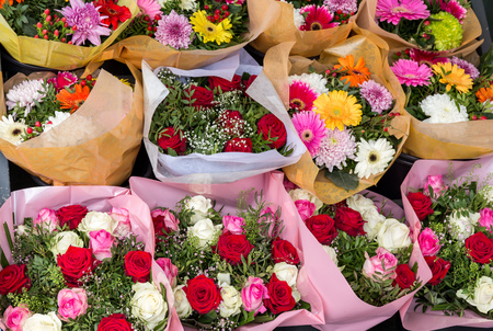 Various flower bouquets