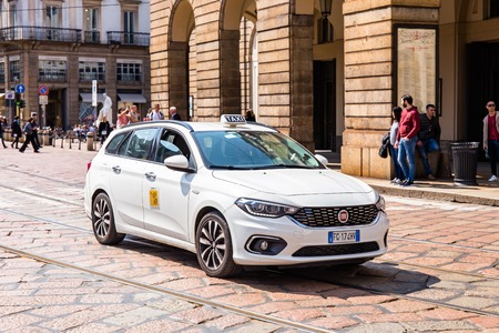 Taxi near La Scala
