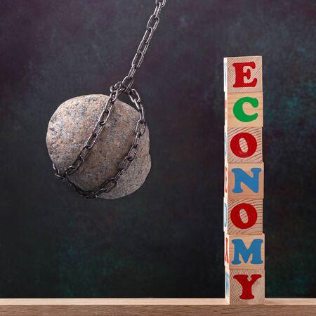 Economic blow concept Stock fotó