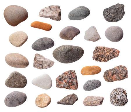 Stones set isolated Standard-Bild