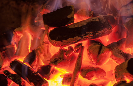 kiln: The burning of charcoal in a kiln