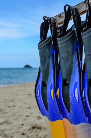 flippers: Scuba flippers Stock Photo