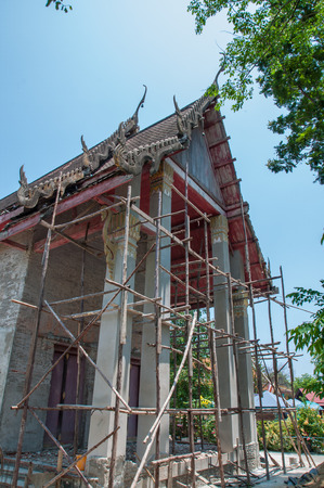 scaffolds: Restoration of the Temple