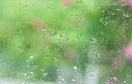 condensation: Background or surface condensation on the glass Stock Photo