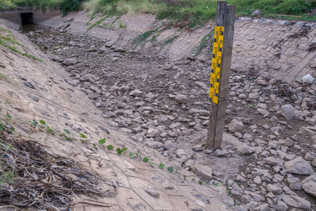 inefficient: Inefficient irrigation or no water Stock Photo