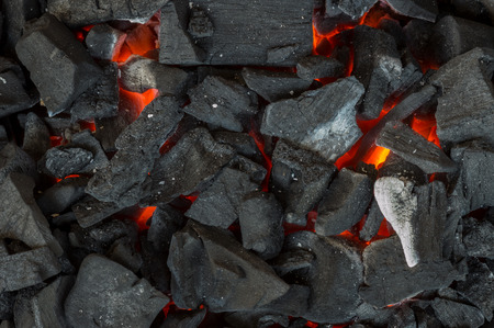 Heat barbecue charcoal