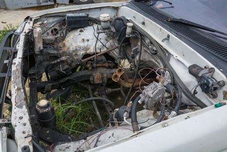 Old cars with engine repairs