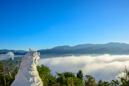 Scenic Wat Phra That Doi Kong Mu. Mae Hong Son in Thailand