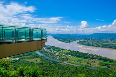 Sky walk , pha tak sue Nongkhai City, Thailand