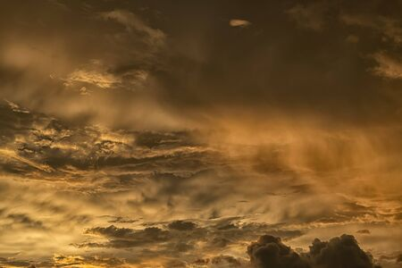 Beautiful sky with the clouds on sunset or sunrise , Abstract background in the in nature background concept.