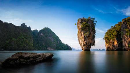 Island on Phang Nga bay, Thailand ,Amazing seascape tropical sea beach near Phuket. Stock Photo