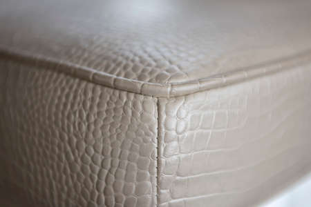 Close Up details leather furniture, upholstered furniture Stock Photo