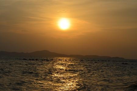 sunset at coast of the sea Stock Photo - 14158396