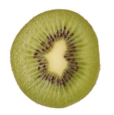 slices of kiwi on a white Stock Photo