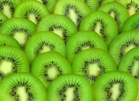 background with beautiful green kiwi Stock Photo