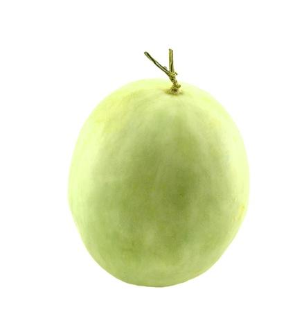 Cantaloupe fondo blanco. Foto de archivo