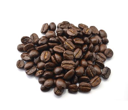 Arabica coffee beans on white basket Stock Photo