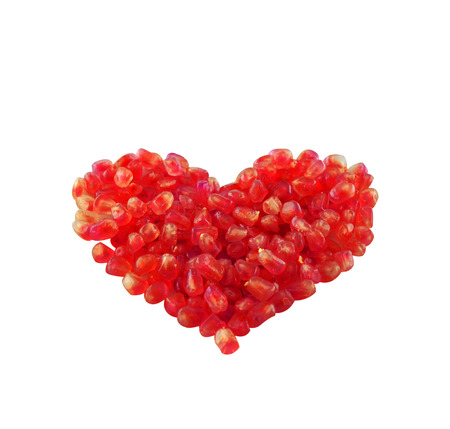 scurvy: Pomegranate seeds as heart shaped fruit