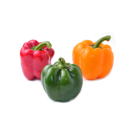 sweet pepper with white background