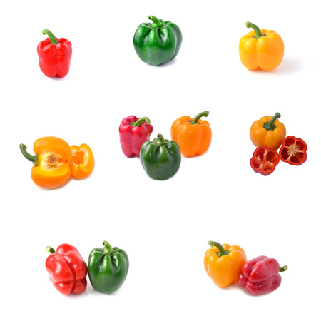 Sweet pepper with white background photo