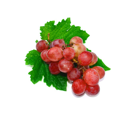 Grapes with white background Stock Photo