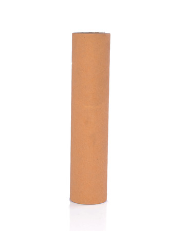 N�cleo de papel con fondo blanco Foto de archivo