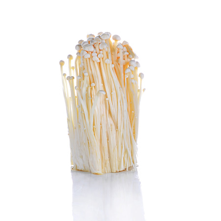 Enoki mushroom, Golden needle mushroom isolated in white background